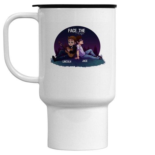 Face the Music travel mug