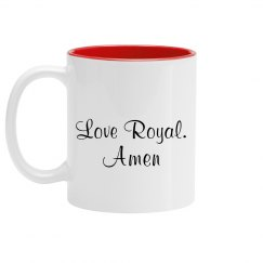 Royal's prayer mug