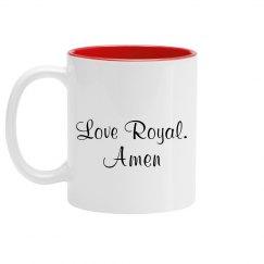 Royal's prayer mug