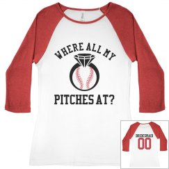 Custom Baseball Bachelorette Party Bridesmaid