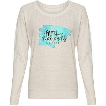 Faith and Diamonds Slouchy Shirt