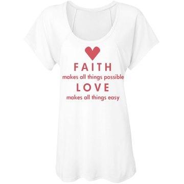 Faith And Love Tee