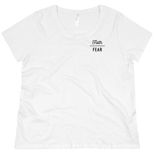 Faith Over Fear plus size Raglan Tee
