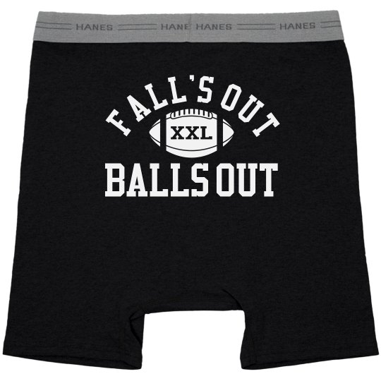Falls Out Balls Out Football Guy Underwear Gift