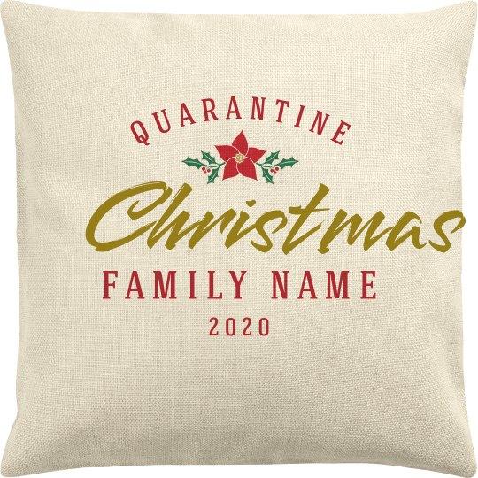 Family Christmas Quarantine Pillow