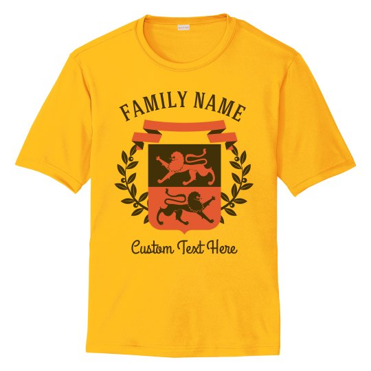 Family Crest & Name Custom Shirts
