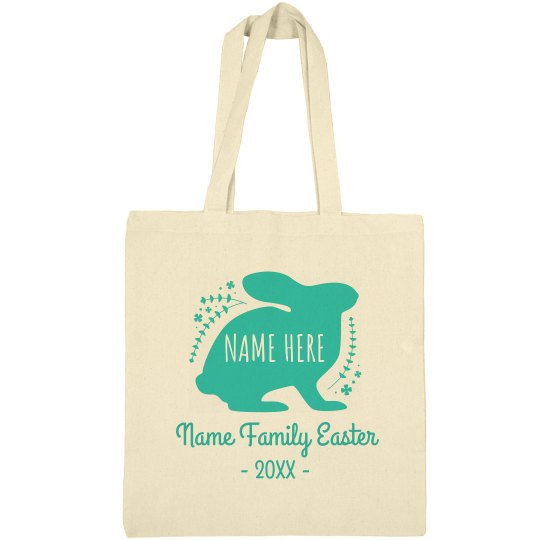 Family Easter Custom Egg Hunt Bag