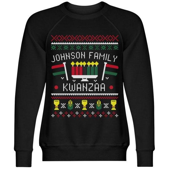 Family Kwanzaa Custom Ugly Sweater