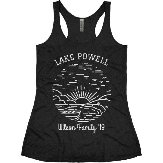 Family Lake Trip Custom Cute & Trendy Vacation Tanks