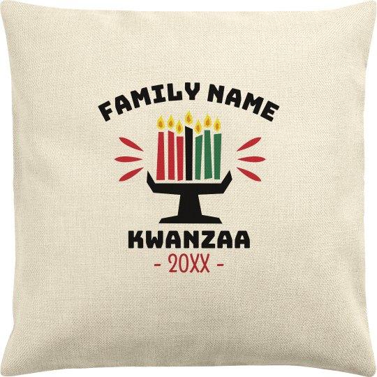 Family Name Custom Date Kwanzaa Pillow