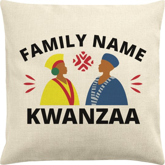 Family Name Custom Kwanzaa Pillow Cover
