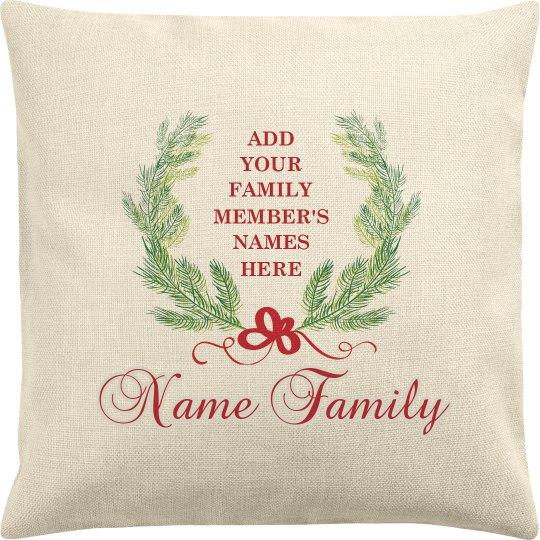 Family Names Custom Christmas Gift