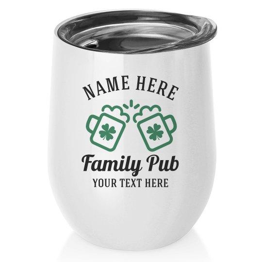 Family Pub St. Patrick's Wine Tumblers