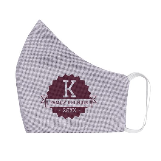 Family Reunion Custom Initial Face Mask