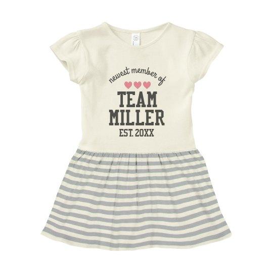 Family Team Name Custom Baby Dress