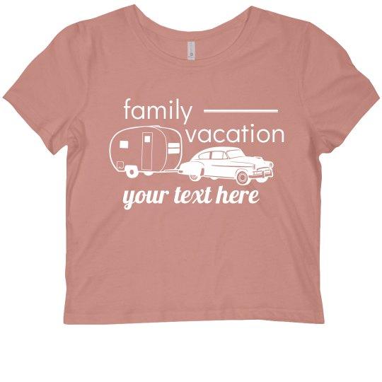 Family Vacation Custom Crop