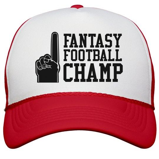 Fantasy Football Champ Foam Finger Trucker Hat