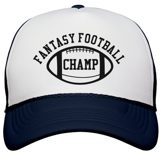 Fantasy Football Champ Navy and White Trucker Hat