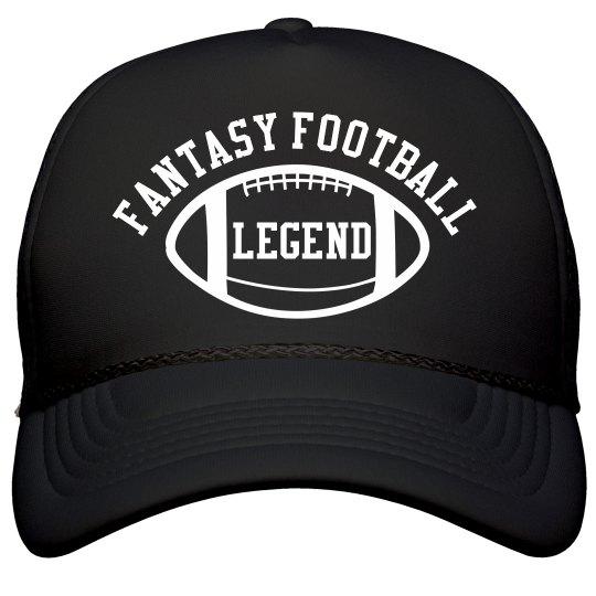 Fantasy Football Legend Black Trucker Hat