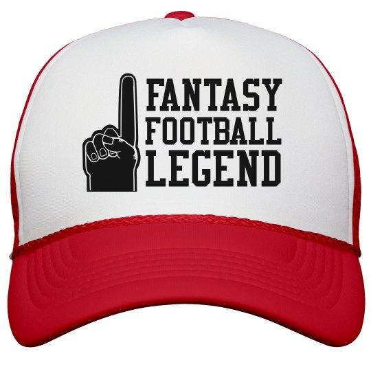 Fantasy Football Legend Foam Finger Trucker Hat