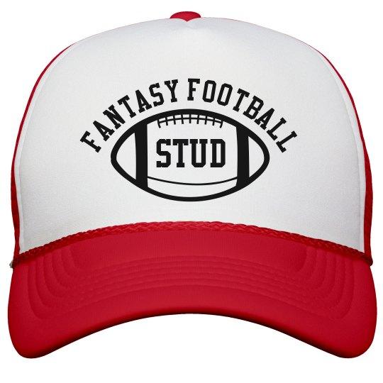 Fantasy Football Red White Trucker Hat