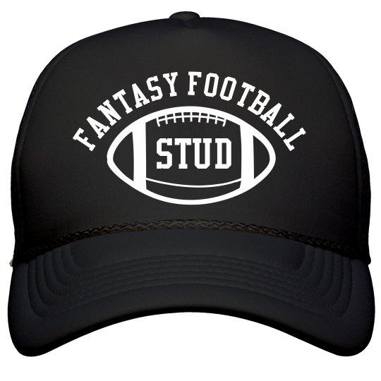 Fantasy Football Stud Black Trucker Hat