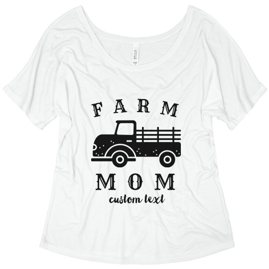 Farm Mom Custom Tee