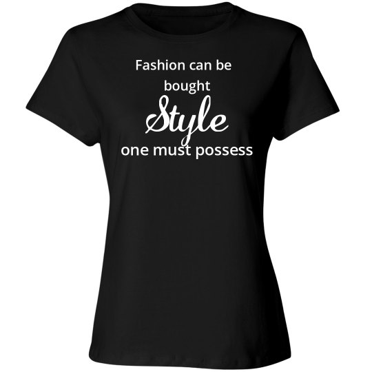 fashion can be bought