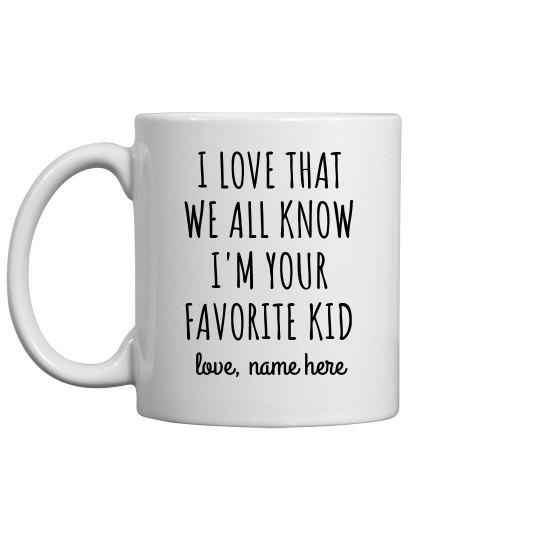 Favorite Kid Custom Funny Father's Day Mug