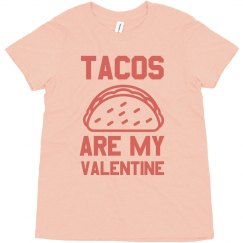 Tacos Are My Valentine Funny Kids