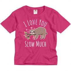 Girls Cute Sloth Valentine's Day