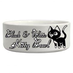B&W Kitty Bowl