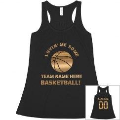 Basketball Mom Metallic Gold
