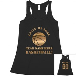 Basketball Mom Metallic Gold