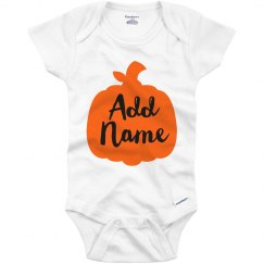 Custom Cute Little Pumpkin Onesie