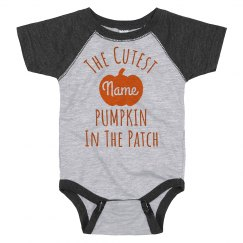 Custom Cute Baby Pumpkin Patch