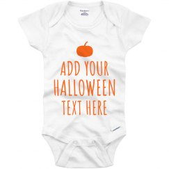 Customizable Halloween Baby Onesie