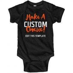 Custom Halloween Onesie Template