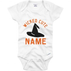 Custom Wicked Cute Witch Hat Name Bodysuit