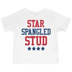 Star Spangled Stud Toddler Tee