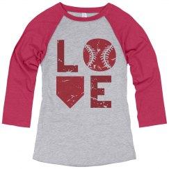 Baseball LOVE - Red & Blue