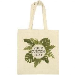 Custom Jungle Leaf Tote