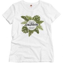Custom Jungle Leaves Tee