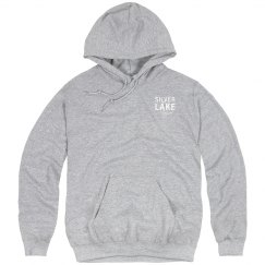 Adult hoodie with Silver Lake outline logo on front
