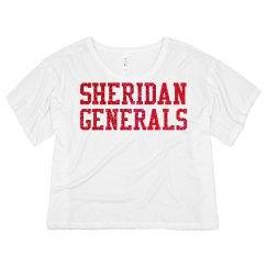 Sheridan Glitter Flowy Crop top #2