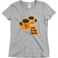 Womens A Cup of Code Podcast Alternate Design T-Shirt