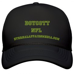 Black & Lime BOYCOTT NFL Trucker Cap