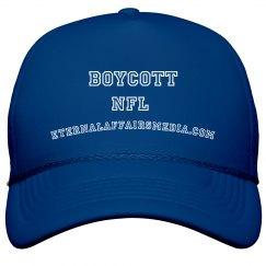 BLUE & WHITE Boycott The NFL Trucker Cap