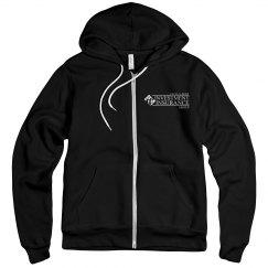 Unisex Fleece Full Zip Midweight Hoodie BLACK