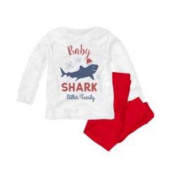 Baby Shark Matching Custom Family Christmas Pajamas